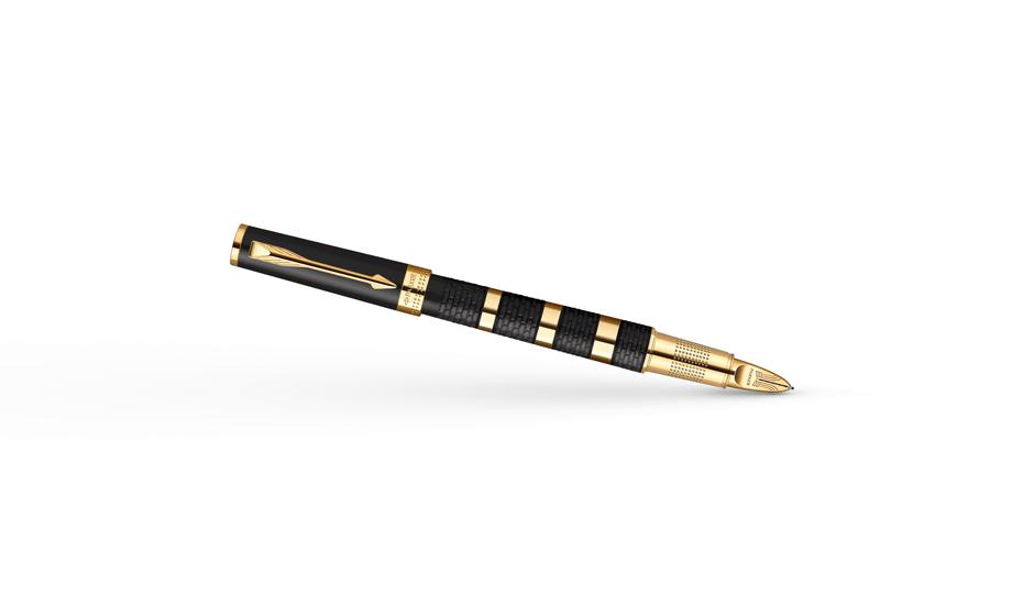Шариковая ручка Parker Ingenuity Ring Black Rubber & Metal GT, каучук, ма  1858532