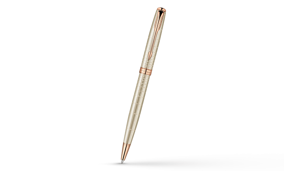 Шариковая ручка Parker Sonnet Feminine Silver PGT, серебро 925 пробы, роз  1859493