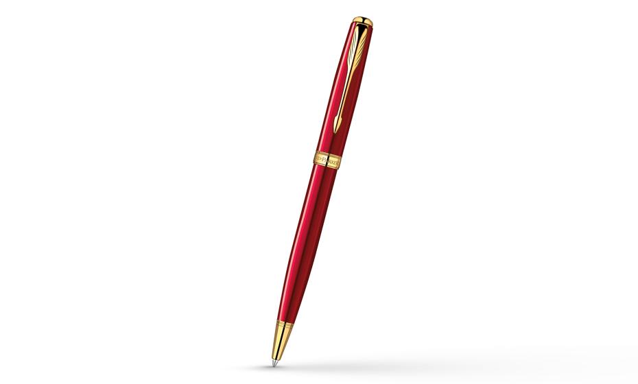 Шариковая ручка Parker Sonnet Lacquer Red GT, красный лак, позолота  1859472