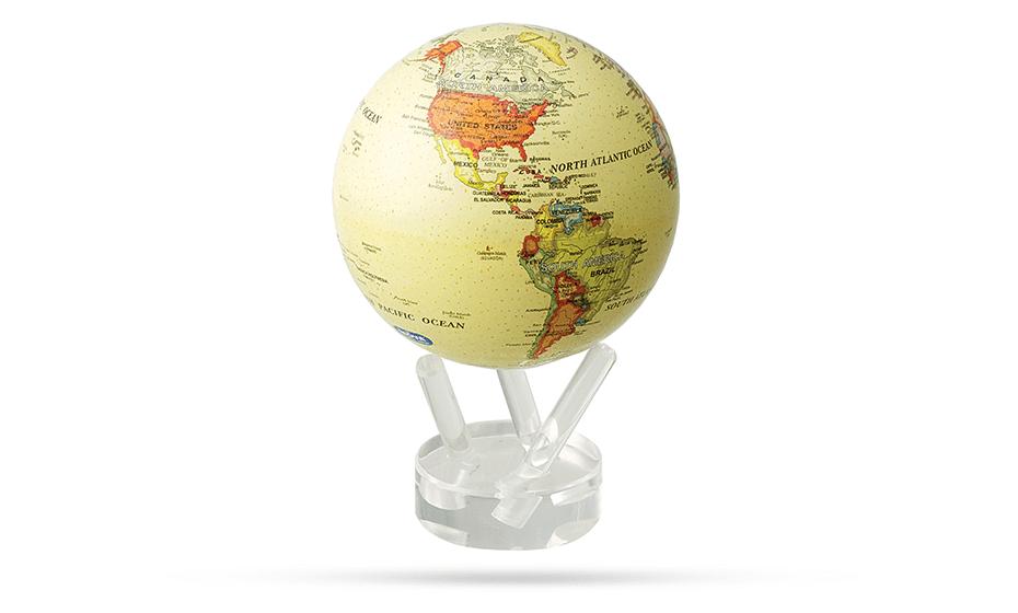 Глобус Mova Mova, самовращающийся, с политической картой, D12,  MG-45-ATE