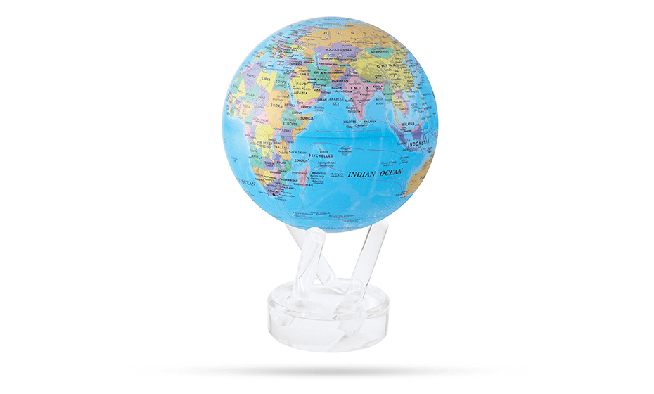 Глобус Mova Mova, самовращающийся, с политической картой, D12,  MG-45-BOE