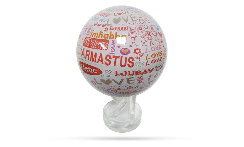 Глобус Mova Love, самовращающийся, D12, розовый  MG-45-LOVE