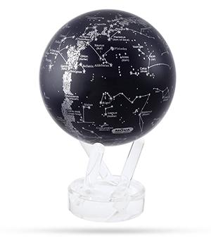 Глобус Mova Mova Звездное небо, самовращающийся, D12, черный  MG-45-STARMAP