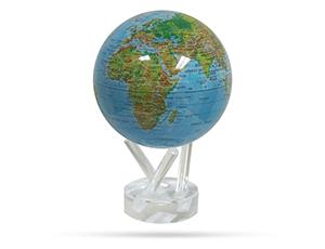 Глобус Mova самовращающийся, с географической картой, D12, цве  MG-45-BGE