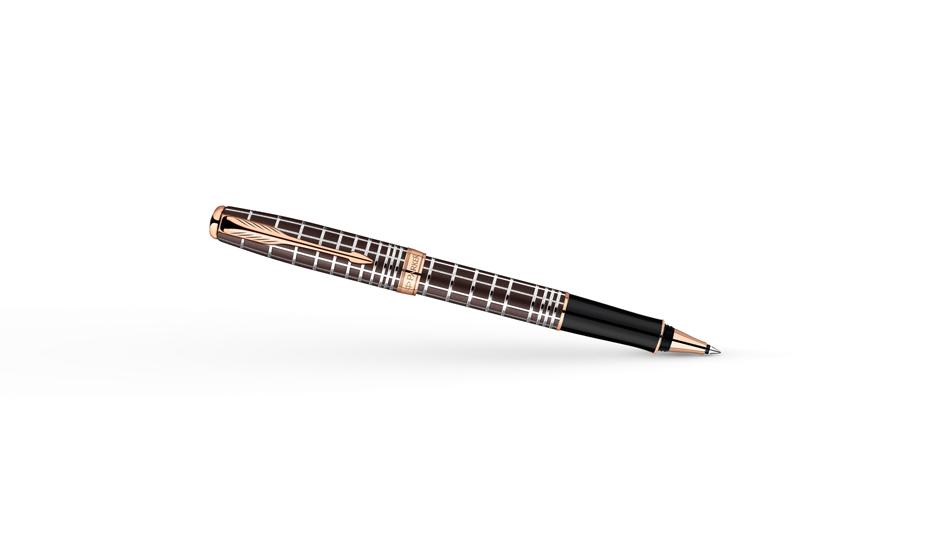 Чернильная ручка Parker Sonnet Cisele Decal Brown PGT, коричневая, лак, по  1859483