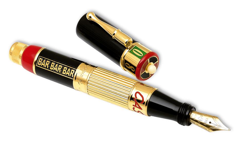 Перьевая ручка Ancora Casino (Казино), золото 18К, акриловая смола, позо  CASINO-FP