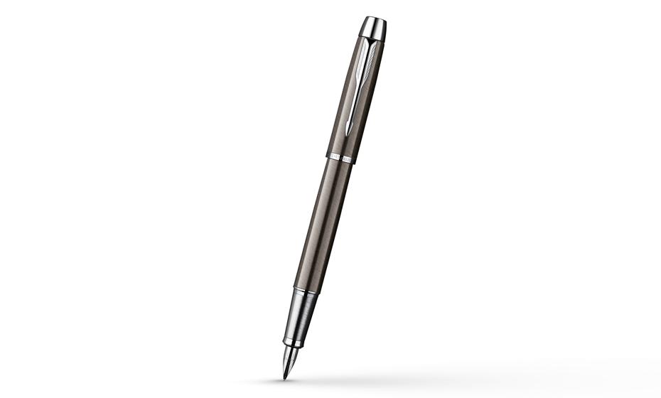 Перьевая ручка Parker IM Gun Metal CT, корпус нержавеющая сталь, лак, отделка хромом, арт. S0856240
