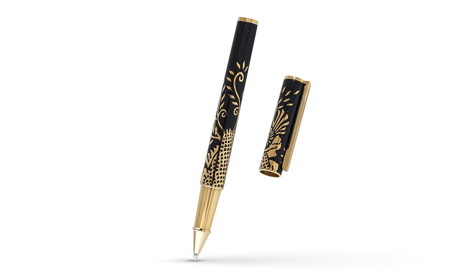 Чернильная ручка S.T. Dupont Феникс, китайский лак, позолота  142857