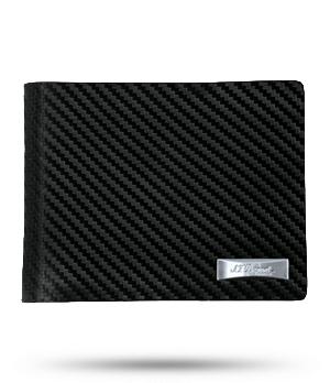 Портмоне S.T. Dupont Defi Carbon, кожа, тиснение  170001
