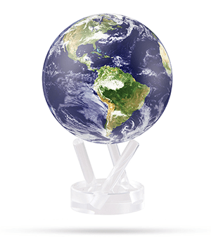 Глобус Mova Mova Земля в облаках, самовращающийся, d12, голубо  MG-45-STE-C