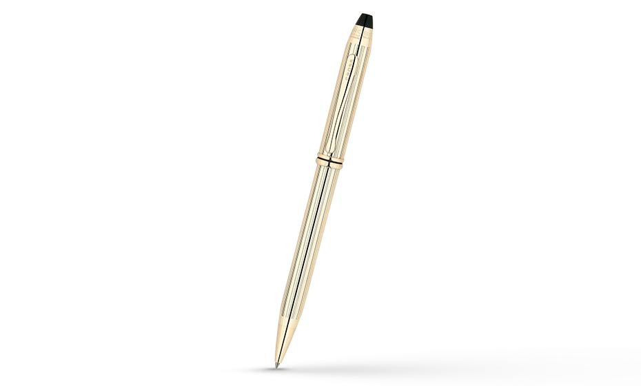 Шариковая ручка Cross Cross Townsend, латунь, позолота 10К  702