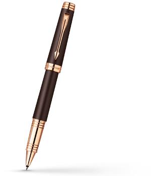 Чернильная ручка Parker Premier Soft Brown PGT, коричневая, лак, розовая п  1876396