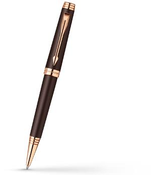 Шариковая ручка Parker Premier Soft Brown PGT, коричневая, лак, розовая п  1876397