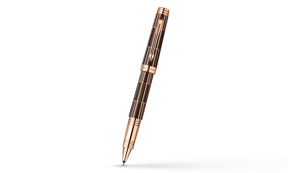 Чернильная ручка Parker Premier Luxury Brown PGT, коричневая, лак, позолот  1876378