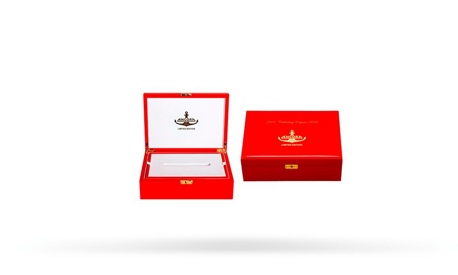Перьевая ручка Ancora Cyrillic (Кирилица), акриловая смола, позолота  CYRILLIC-RB