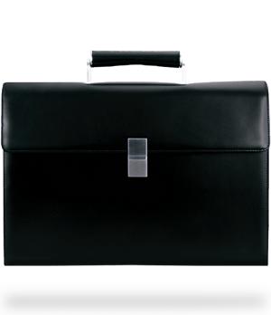 Портфель Porsche Design Classic Line, кожа, черный, молния  4090000135