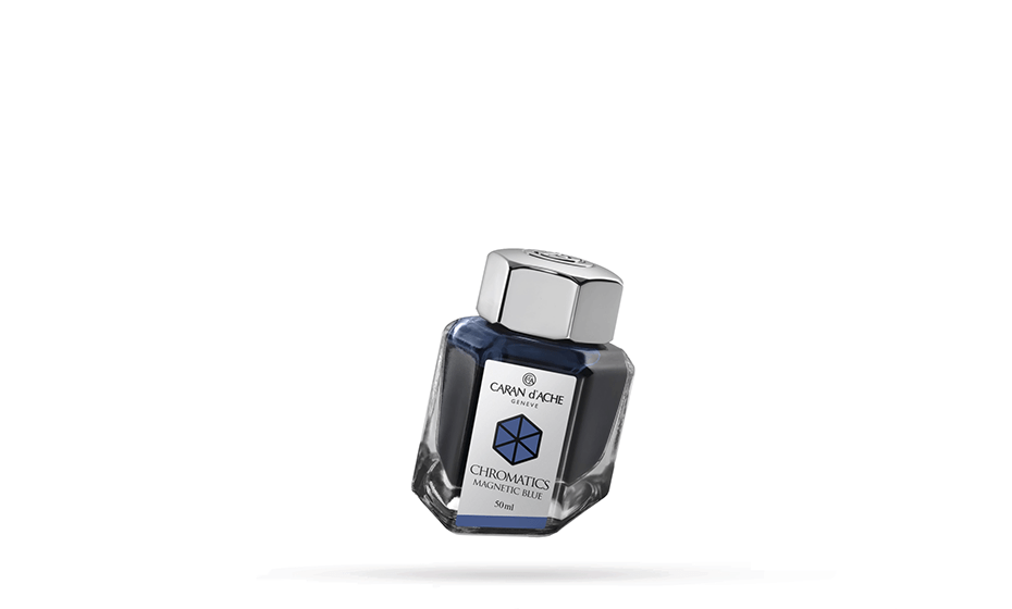 Чернила Caran d'Ache Caran d`Ache Ch romatics, Magnetic Blue ,флакон 50  8011-149