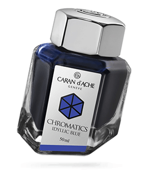 Чернила Caran d'Ache Caran d`Ache Ache Chromatics, Idyllic Blue, флакон  8011-140