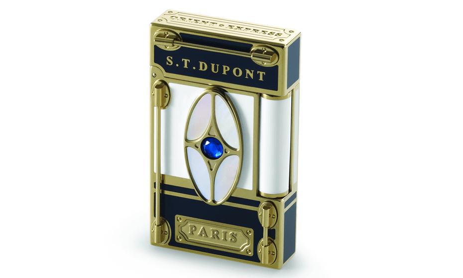 Зажигалка S.T. Dupont Восточный Экспресс, белый и синий лак, перламутр,  16029