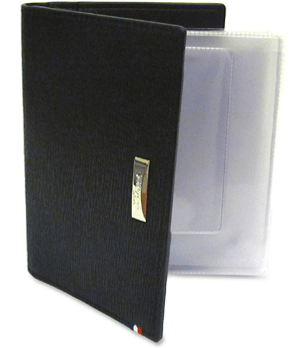 Чехол для автодокументов S.T. Dupont Contraste, пластиковые кармашки, кожа, черный  180338