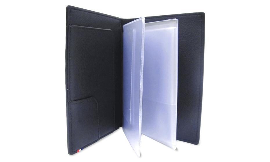 Чехол для документов S.T. Dupont Elysee, кожа, черный, пластиковые кармашки  180038RU