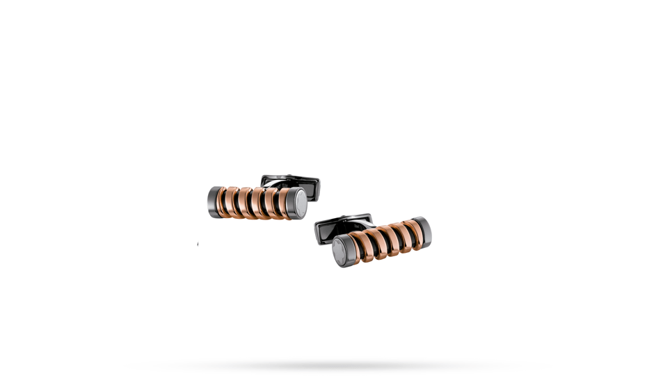 Запонки Montblanc сталь, позолота  110312