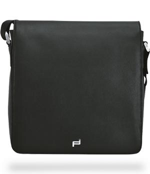 Сумка Porsche Design Shoulder Bag mfv, мессенджер, кожа, черный  4090001613