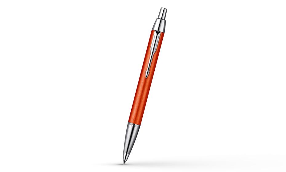 Шариковая ручка Parker IM Premium Big Red, красно-оранжевая, ювелирная ла  1892646