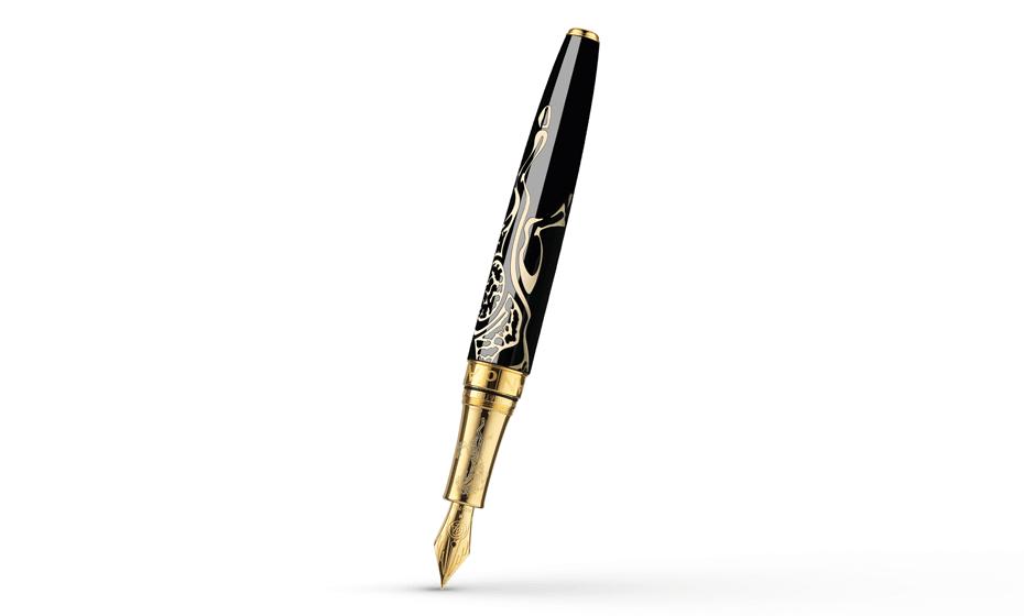 Перьевая ручка Caran d'Ache Horse 2014, золото, позолота, черный китайский лак  5092-050