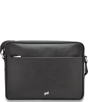 Сумка Porsche Design Shoulder Bagс, плечевым ремнем, кожа, черная  4090001612