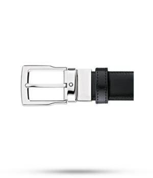 Ремень Montblanc двусторонний, стандартная пряжка с палладием, черн  109738