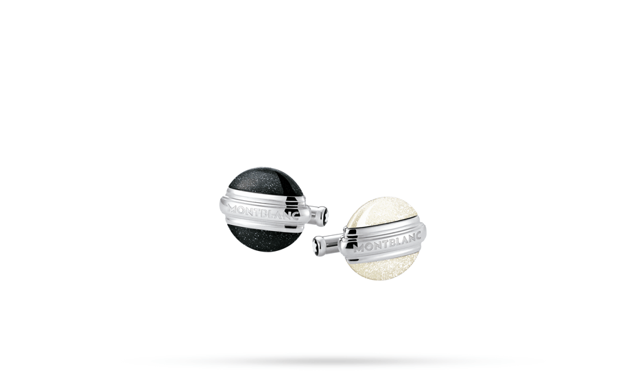 Запонки Montblanc Elegance Collection, круглые, сталь, лак  109775