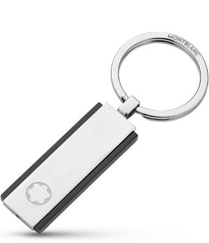 Брелок Montblanc сталь, PVD покрытие, гравировка МВ  110173