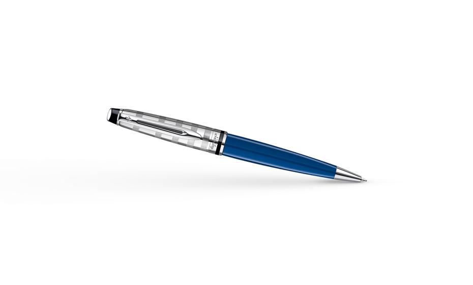 Шариковая ручка Waterman Expert, синяя, ювелирная латунь, лак, хром  1904593