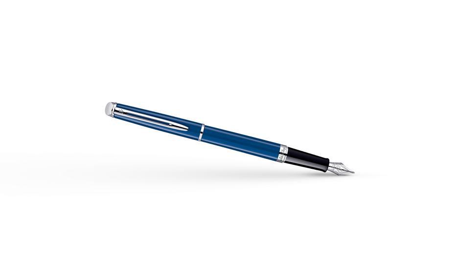 Перьевая ручка Waterman Hemisphere, синяя, металлик, отражающие свет микро  1904598