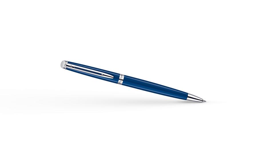 Шариковая ручка Waterman Hemisphere, синяя, металлик, отражающие свет микро  1904603 3501179046037