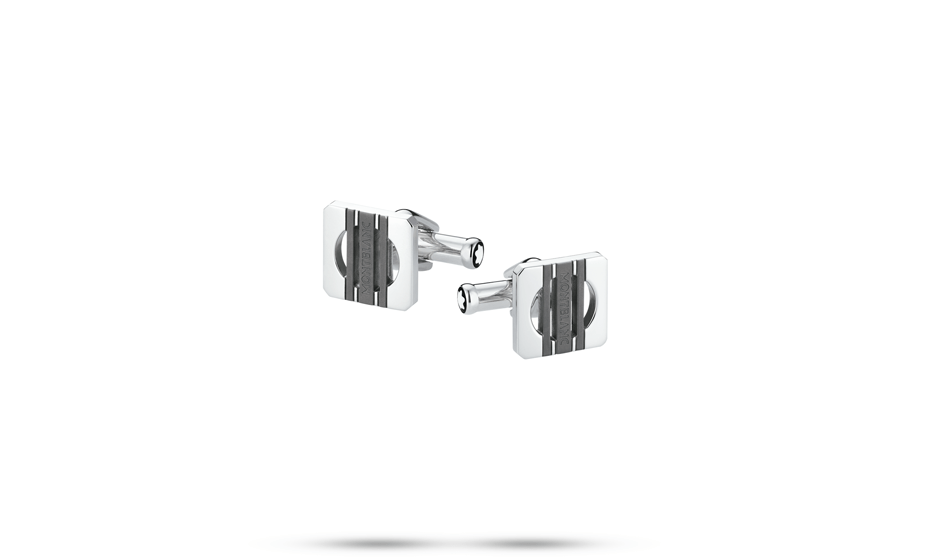 Запонки Montblanc Heritage, прямоугольные, сталь, 17 х 16 мм  111335