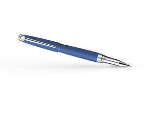 Чернильная ручка Caran d'Ache Leman Matte Blue, матовый синий лак, родий  4779-449