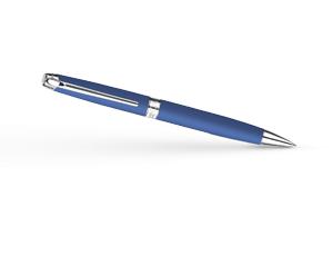 Шариковая ручка Caran d'Ache Leman Matte Blue, синее матовое лаковое покрытие,  4789-449
