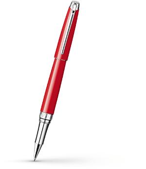 Чернильная ручка Caran d'Ache Leman Lacquer Red, красный лак, родий  4779-770