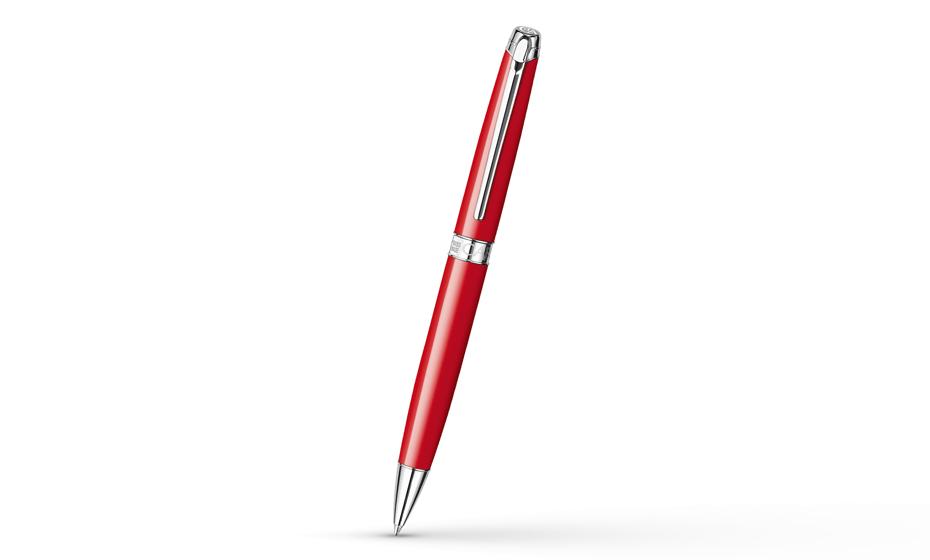 Шариковая ручка Caran d'Ache Leman Lacquer Red, родий, красный лак  4789-770