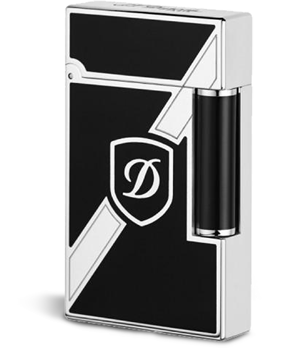 Зажигалка S.T. Dupont Blazon, черный лак, палладий  16739
